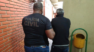 Segundo preso na manhã de hoje em Dourados durante Operação Luz da Infância. Imagem: (Adilson Domingos)
