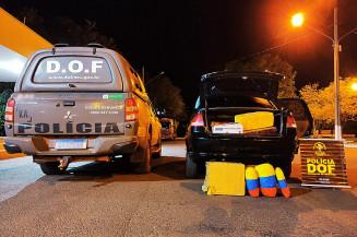 DOF aprende drogas e prende foragido da justiça em Naviraí. Imagem: (Assessoria)