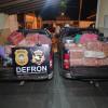 Aproximadamente duas toneladas de drogas foram apreendidas no início da noite de hoje pela Defron. Imagem: (Adilson Domingos)