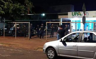 Equipes da Guarda Municipal em frente a UPA em que ocorreu a prisão (Imagem: Adriano Fernandes)