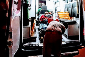 As vítimas foram encaminhadas para o Hospital da Vida de Dourados (Imagem: Adilson Domingos)