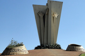 Monumento ao Colono, principal símbolo de Dourados, onde covid já matou 293 moradores (Divulgação)