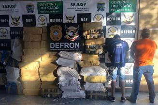 Dois foram presos em entreposto em Ponta Porã (Imagem: Adilson Domingos)