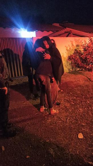Jovem é encontrada pela Polícia Militar (Imagem: Assessoria)