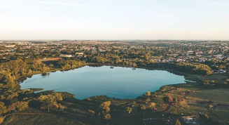 Parque Arnulfo Fioravante em Dourados (Imagem: Alexandre Pimenta)