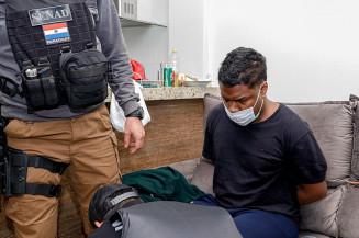 Criminoso é preso pelo Senad no Paraguai (Imagem: Divulgação)