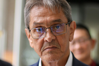 O presidente nacional do PTB, Roberto Jefferson, em evento em Curitiba (Imagem: Eduardo Matysiak/Futura Press/Estadão Conteúdo)