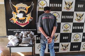 Preso pela Defron volta pra cadeia por tráfico de drogas (Imagem: Adilson Domingos)
