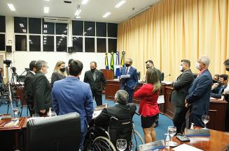 Sessão da Câmara de Vereadores de Dourados, ontem à noite (Valdenir Rodrigues)