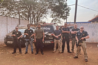Policiais do Rio Grande do Sul recebem instruções da Defron (Imagem: Defron)