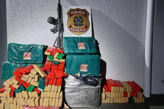 Droga apreendida em Naviraí (Imagem: Polícia Federal)