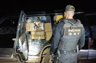 SUV foi encontrado abandonado na estrada (Imagem: DOF)