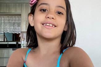 Aluna Elisa Ester Nolasco de Souza, 8 anos, moradora em Indápolis (Imagem: Assecom)
