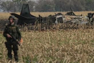 Avião que caiu em plantação na Capital (Campo Grande News)
