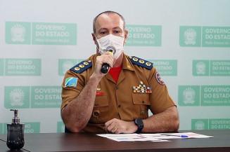 O diretor de Saúde e Assessor Técnico do Corpo de Bombeiros Militar na secretaria estadual de Saúde (SES), coronel Marcello Fraiha (Imagem: Assessoria)