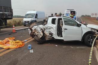 Acidente com vítima fatal (Imagem: Rones César/Alvorada Informa)