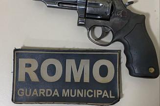 Arma usada pelo homem preso (Imagem: Guarda Municipal)