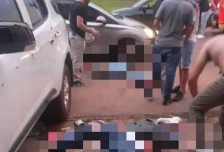 Quatro são executado em Pedro Juan Caballero (Imagem: Ponta Porã News)