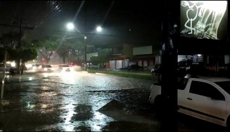 Alerta de chuva forte e rajadas de vento para Dourados e região (Imagem: Reprodução)