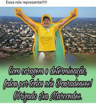 Postagem com a foto de Isa Jane Marcondes em redes sociais (Reprodução)