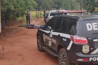 Chácara onde 4 homens foram presos hoje (Divulgação)