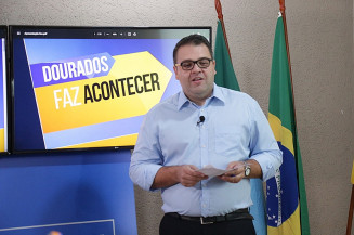 Prefeito Alan Guedes em live para falar dos cem dias de administração (Divulgação)