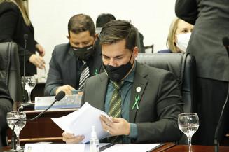 Diogo Castilho durante a sessão desta segunda (Divulgação)