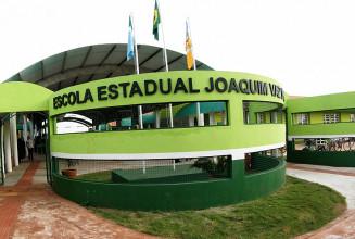 Escola Estadual Joaquim Vaz de Oliveira, no distrito de Indápolis (Chico Ribeiro)