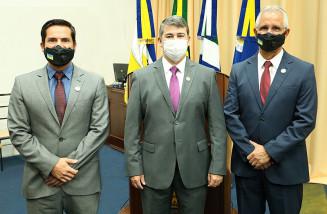 Fabio Luis, Diogo Castilho e Sergio Nogueira, integrantes da CPI (Valdenir Rodrigues)