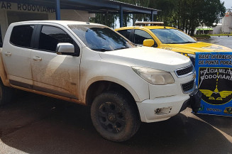Camionete havia sido furtada em Maracaju. Imagem (PRM)