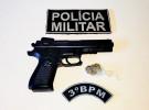 PM parende assaltante com arma de brinquedo em Dourados. Imagem (Adilson Domingos)