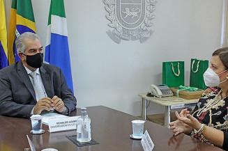 Reunião do governador com a embaixadora da Venezuela. Imagem: Chico Ribeiro)