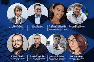 Participantes da Webinar das Cidades Digitais (Imagem: Divulgação)