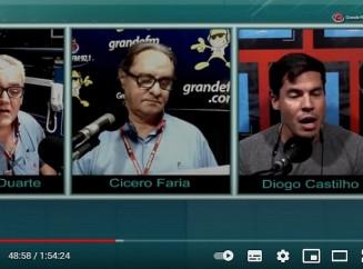Diogo Castilho em entrevista à rádio Grande FM; vereador mentiu ao admitir descumprimento de toque de recolher (Imagem: Reprodução)