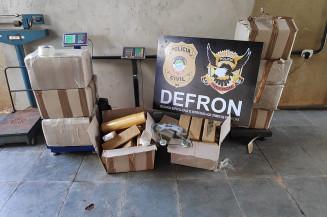 Mais de  quilos de maconha foram apreendidos pela Defron. Imagem: (Adilson Domingos)